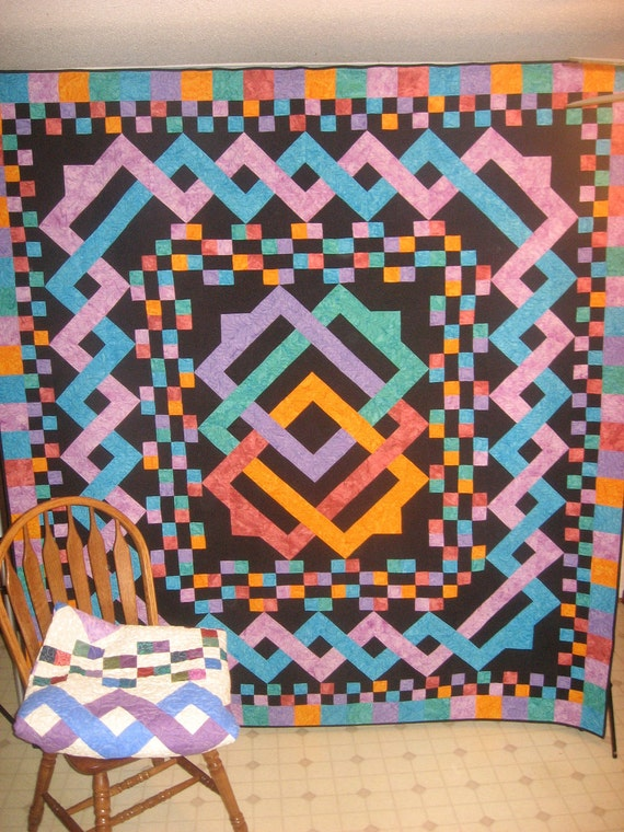 Twisted Rag Quilt Pattern Free : SALE Buy 2/Get 1 Free MYSTICAL TWIST pdf quilt pattern
