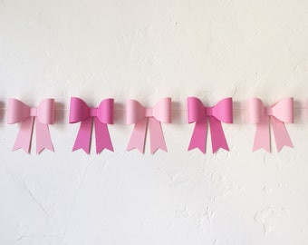 Paper Bow Garland - Pick Your Colors! | Paper Bow Banner | Shower Bunting | Wedding Decor | The Paper Bow Shop