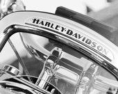 Harley Davidson, art photo print, motorcycle birthday gift, large canvas, black and white, B&W photography, wall decor 8x10 11x14 20x30 MF