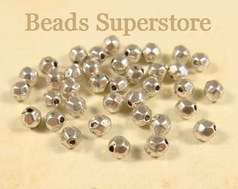 SALE 4 mm x 3.5 mm Antique Silver Spacer Bead - Nickel Free, Lead Free and Cadmium Free - 50 pcs