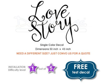 Wedding Floor Decal   Love Story Floor Decals   Personalized Wedding  Reception   Dance Floor Vinyl