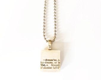 Dream Scrabble Tile Necklace