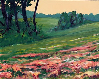 """Original oil painting """"Border (rolling hill)"""" 28"""" x 22"""""""