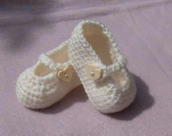 Crochet Baby Shoe Booties with Side Strap - Custom - MADE TO ORDER