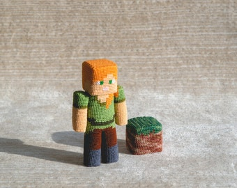 Crochet Pattern of the Girl with piece of dirt (Amigurumi tutorial PDF file)