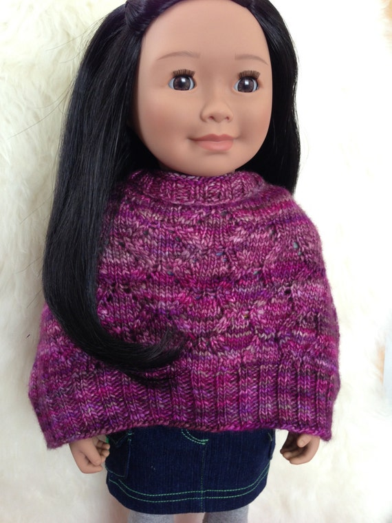 Free Knitting Pattern For Dolls Cape : American Girl Doll Knit Cape