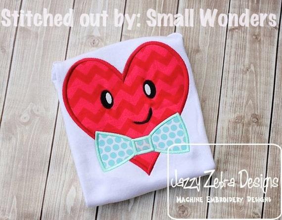 Heart Boy Appliqué embroidery Design - Valentines day appliqué design - Valentine appliqué design - heart appliqué design - boy appliqué