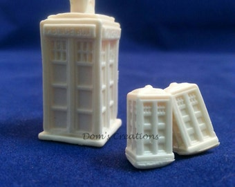 Dr. Who 3D Tardis Pendant Silicone Mold