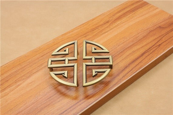 Items similar to chinese style antique symmetry pulls for Asian furniture hardware drawer pulls