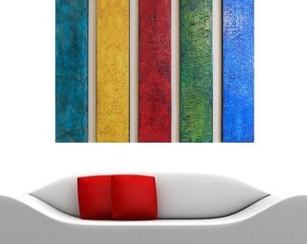 Wood Wall Sculpture - Texture Paintings - Large Abstract Painting  Contemporary Art  Modern Wall Art - Multi Panel Art  Large Wall Art Decor