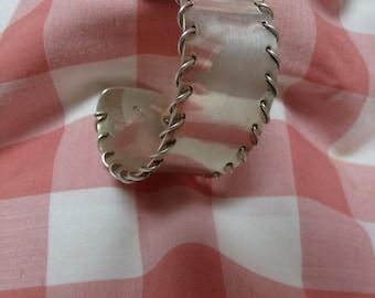 Vintage Sterling Silver Wide Cuff Laced 925 Bracelet