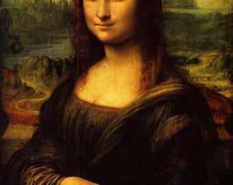 A2/A3 Digital Canvas Prints Mona Lisa