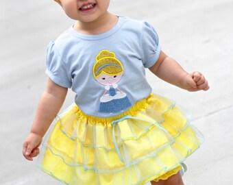Girl Princess Cindy Shirt with Embroidered Name