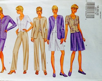 Butterick 6937 UNCUT Misses Jacket, Top, Skirt, Shorts & Pants