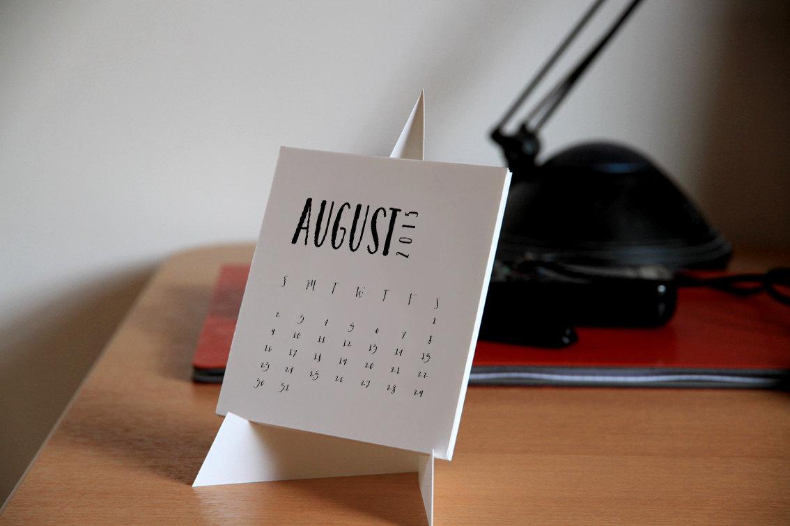 Diy Table Calendar : Printable desk calendar instant download diy by