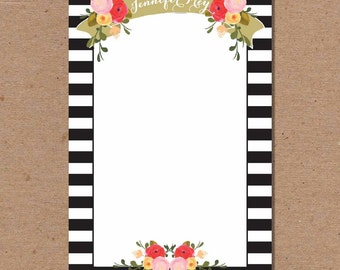 Personalized Notepad - To Do List - Memo Pad - Stationery Note Pad - Chic Simple - Wedding & Bridal Gift - Gift Idea - Stocking Stuffer N3