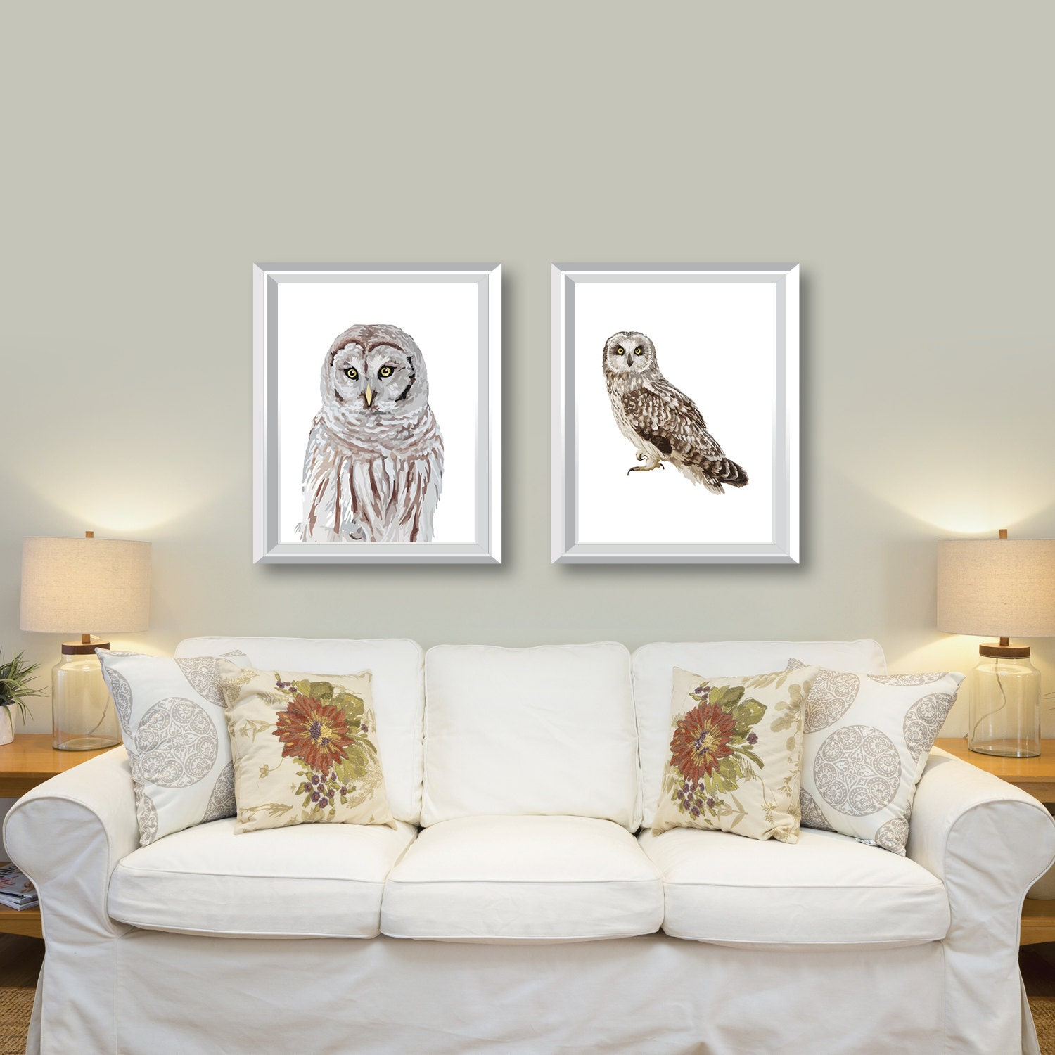 owl art prints owl decor owl artwork wall art home. Black Bedroom Furniture Sets. Home Design Ideas