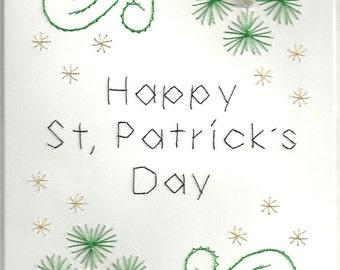 Shamrock Flowers St. Patrick's Day Card