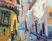 Florance, Italy, The Duomo print in 2 sizes; painting by Ray Sokolowski.