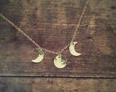 Gold moon phase necklace * Gold filled *