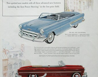 1953 Chevrolet Bel Air Convertible Ad - Chevy Two Ten Convertible - Retro Car Advertising