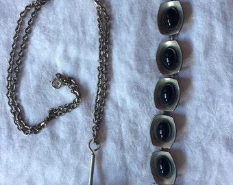 Jorgen Jensen Pewter Bracelet and Necklace set