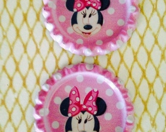 CLEARANCE -  Cute  33*33mm Flattened Bottle Caps for DIY Hairbow Necklace Accessories and more.