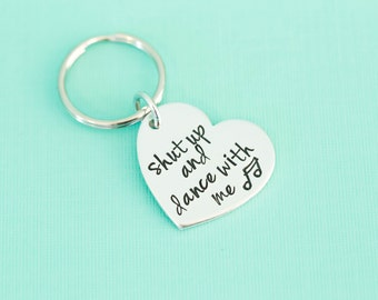 Engraved Necklace - Shut up and Dance with Me - Walk the Moon - Song Lyric Jewelry - Band Jewelry - Custom Engraving