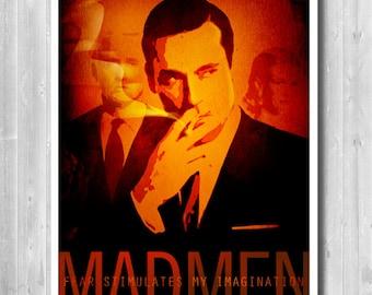 Mad Men poster, Don Draper print, Don Draper Quote, Mad men TV serie poster, Retro poster, Vintage print, Art print,