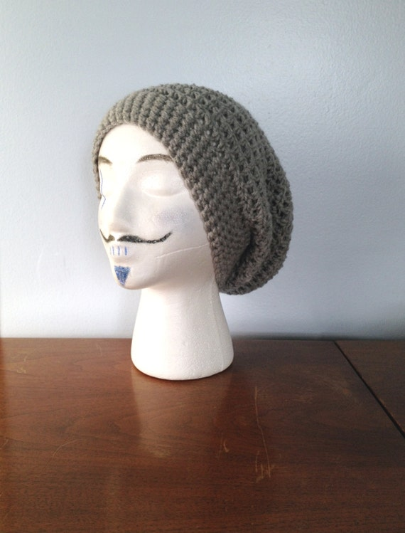 Hipster Hat Knitting Pattern : Mens Slouchy Beanie - Crochet Beanie - Hipster Beanie - Summer Beanie - ...