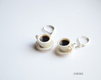 Mini Coffee Cup Earrings, Coffee Cup Jewelry, Polymer Clay Coffe Cup Earrings, Coffee Lover Jewelry, Coffee Mug Earrings