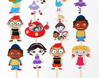 12 Little Einsteins Birthday Party Cupcake Cake Toppers