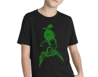Childrens Steampunk Plants vs Zombies Pea Shooter Shirt 3310