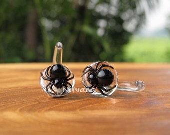 "Black Widow Spider Claws 10g 8g 6g 4g 2g 0g 00g 7/16"" 1/2"" 9/16"" 5/8"" 2.5 mm 3 mm 4 mm 5 mm 6 mm 8 mm 10 mm 12 mm 14 mm 16 mm"