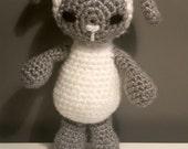 Crocheted 7 in. Lamb Amigurumi