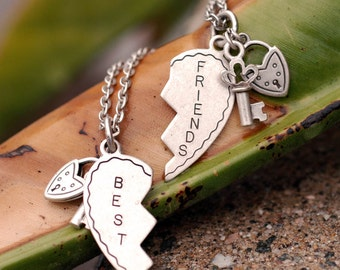 Best Friend Necklace, Best Friend Gift, Friend Necklace, Friendship Jewelry, Best Friends, Bridesmaid Gift, Friendship Gift, Friend N1239