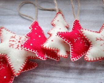 Rustic Felt Christmas Decorations
