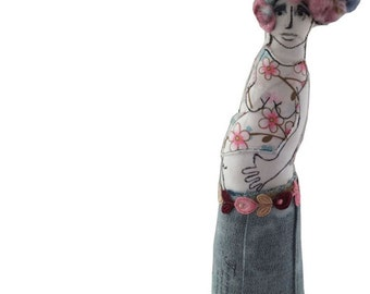 An Mother to be Doll-pregnant Soft Sculpture