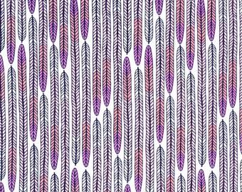 Cloud9 Biology Plumes Pink Organic Cotton Fabric