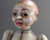 One of a Kind Baby Doll - Foundling - Figurative Fabric Sculpture - OOAK