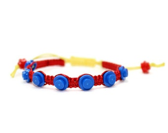 Superhero Bracelet, Adjustable Bracelet made from LEGO (r) Pieces