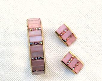 Kramer Bracelet Earring Set Vintage 50s Signed Designer Jewelry