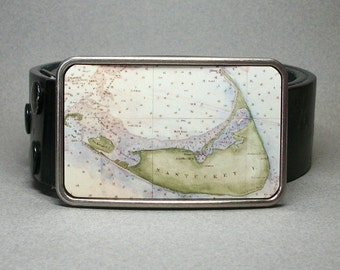 Belt Buckle Nantucket Island Massachusetts Unique Gift for Men or Women