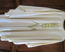 Vintage French Priests Chasuble Padded Gold Wheat Design by F.D. Monna Of Toulouse C1925 Religious Vestments