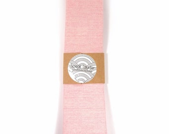 Wedding Mens Tie Skinny Necktie  Laid-Back necktie- Pink fabric