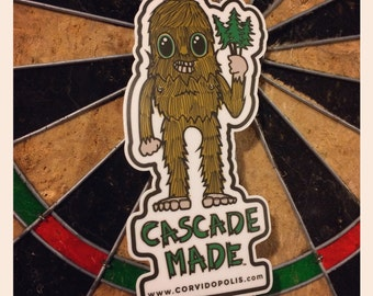 Cascade Made Sasquatch Sticker