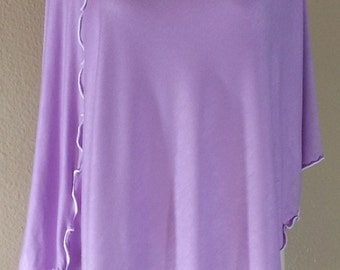 Orchid Bamboo Cowl Neck Poncho Scarf