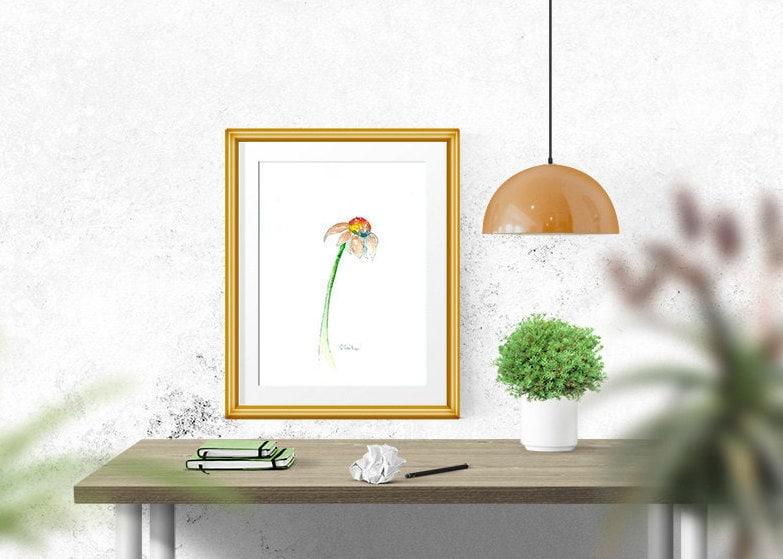 Home Decor Office Decor Wall Art Botanical Flower
