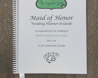 MAID OF HONOR Wedding Planner & Organizer Book