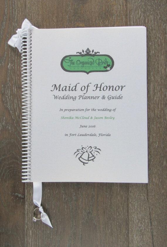 Maid of Honor Wedding Planner Book & Wedding Organizer Bride